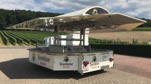 Der neue Wagen für Getränke Wörsdorfer.