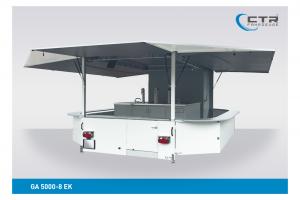 Getränkeausschankwagen Vorführfahrzeug GA 5000-8 EK mit Kühlhaus'