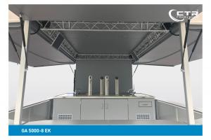 Getränkeausschankwagen GA 5000-8 EK mit Kühlhaus Detailansicht'