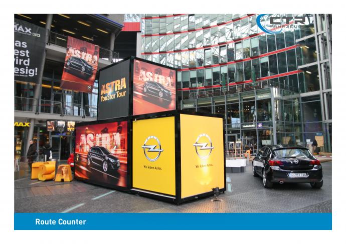 Promotion Anhänger Promocube Art Life Opel Berlin Rückseite