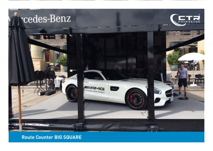 Promotion Anhänger Promocube Big Square Mercedes-Benz AMG