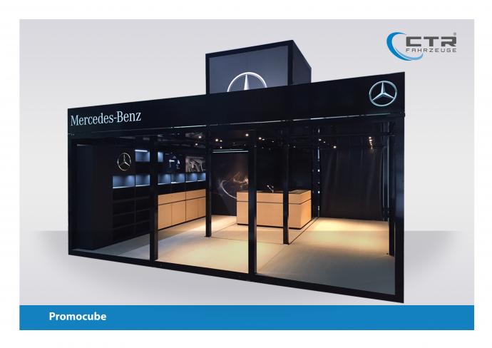 Promocube Promotion Anhänger Mercedes-Benz