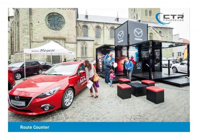 Promotion Anhänger Promocube Urban Legend Mazda