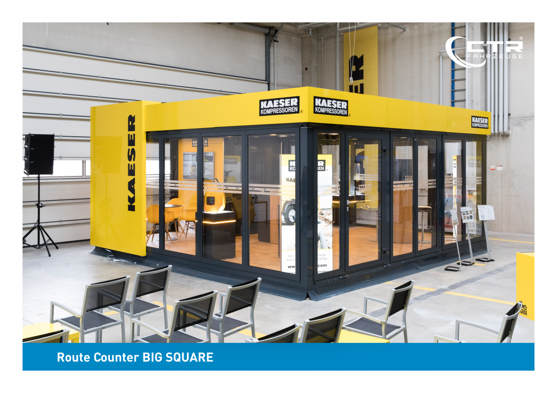 Promotion Anhänger Promocube Route Counter Big Square KAESER