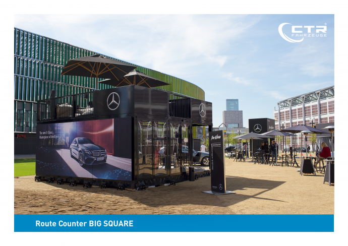 Promotion Anhänger Promocube Route Counter Big Square Mercedes-Benz