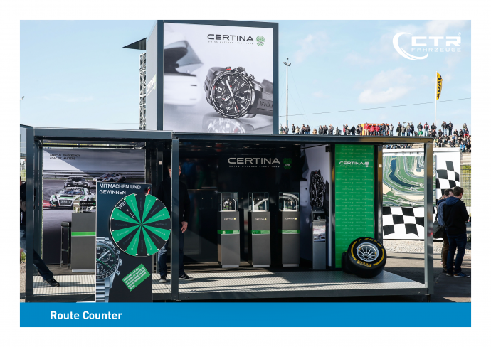 Promotion Anhänger Promocube Route Counter Certina