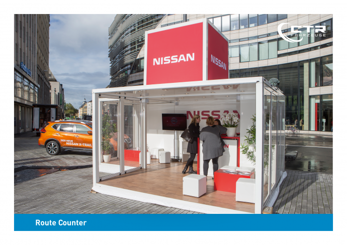 Promotion Anhänger Promocube Route Counter Nissan