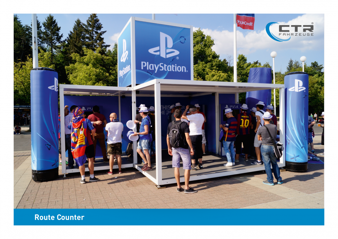 Promotion Anhänger Promocube Route Counter PlayStation