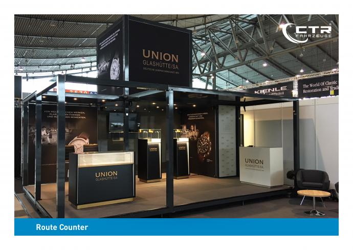 Promotion Anhänger Promocube Route Counter Union Glashütte