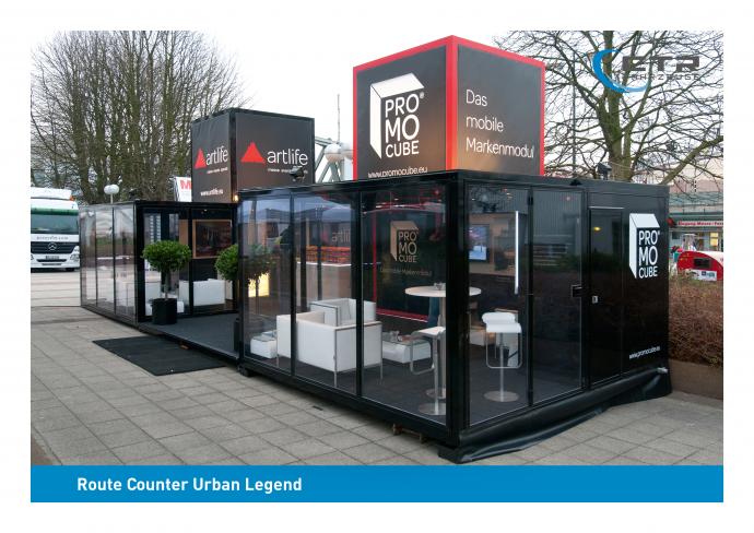 Promotion Anhänger Promocube Route Counter Urban Legend artlife