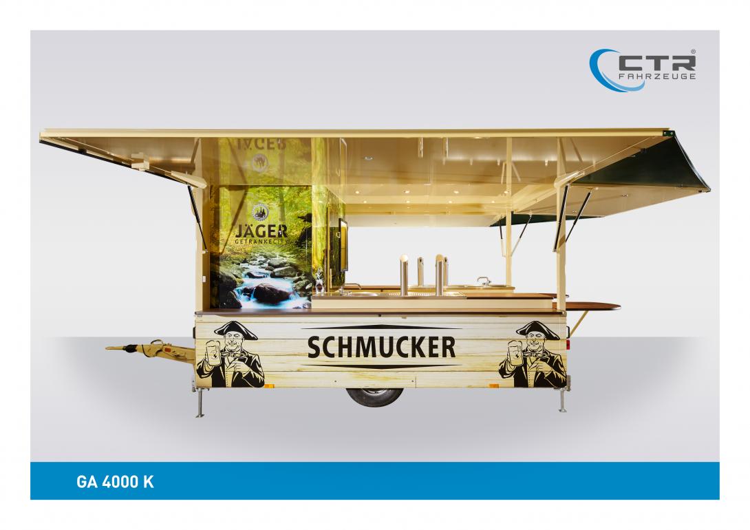 Getränkeausschankwagen GA 4000 K Kühlhaus Schmucker Rechteck