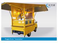 Piaggio Porter Innensteher Grillfahrzeug