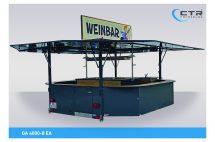 Getränkeausschankwagen Achteck Weinwagen Typ CTR GA 4008-EA