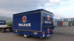 Der neue Wagen für Paulaner.