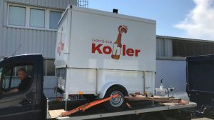 Das Fahrzeug für Getränke Kohler.