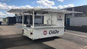 Der neue Ausschankwagen für Getränke Kupfer.