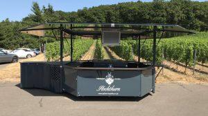 Der neue Weinausschankwagen.