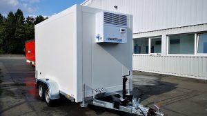 Einer der Kühlwagen.