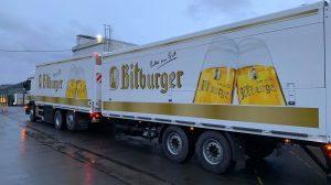 Frisch im Bitburger Branding.