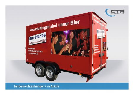 Der neue Kühlanhänger von Bier-Harlos.