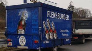 Der neue Ausschankwagen von Getränke Tadsen.